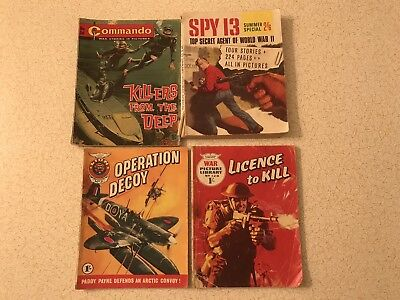 Vintage Picture Library War Comic Books