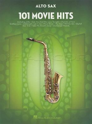 101 Movie Hits for Alto Saxophone Sheet Music Book Skyfall Mission Impossible