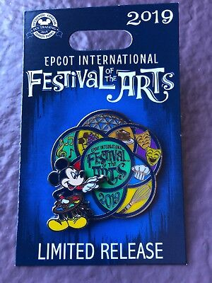 Disney World EPCOT 2019 Festival Of The Arts Mickey Mouse Logo Pin