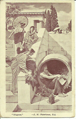 "Art Postcard, ""Diogenes"", Greek Philosopher by J. W. Waterhouse, Regal Series"
