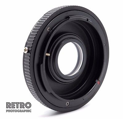 FD-EF Canon FD Fit Lens to EF EOS Mount Adapter Ring With Glass Focus Infinity
