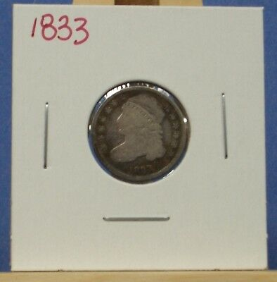 1833 10c Capped Bust Dime UNSLABBED