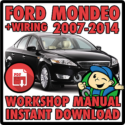 Ford Mondeo 2007-2014 Official Pdf Workshop & Wiring Manual Instant Download