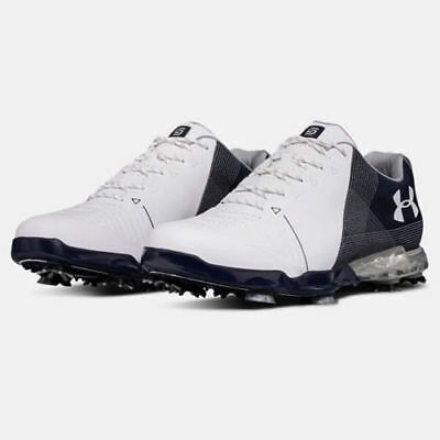 Under Armour 2018 Men's Spieth 2 Golf Shoes Size: 8 White/academy New!! 18768