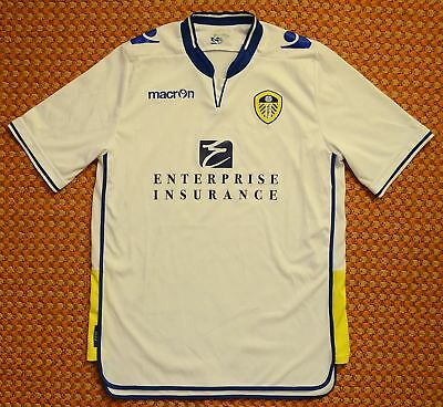 2012 - 2013 Leeds United, Home White Football Shirt by Macron, Mens XL - 2XL XXL