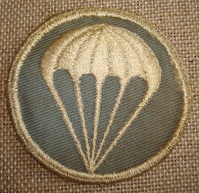 WWII Parachute Infantry Enlisted Mans Sleeve Badge Light Blue