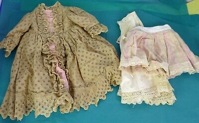 "22"" OLD DRESS & UNDERWEAR for ANTIQUE DOLL, Vintage doll, Dollmaking"