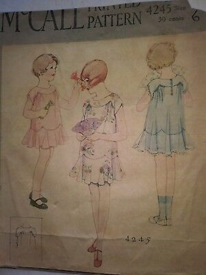 Antique Sewing Pattern- Young Girls Dress # 4245