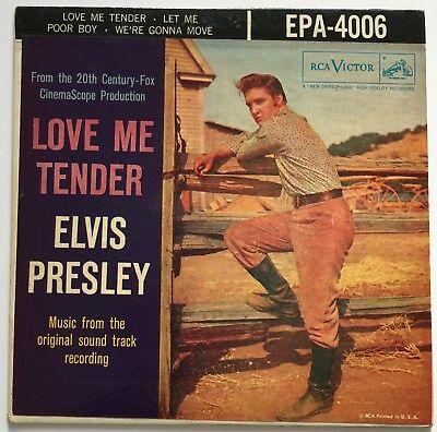 Elvis Presley-Original Usa Love Me Tender,dog On Top Silver Line.