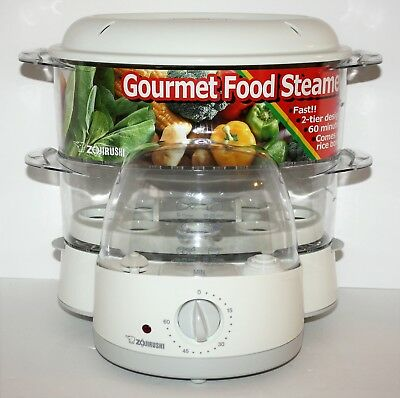 Zojirushi EJ-PC50 Gourmet Food Rice Egg Steamer Cooker 8 Cup Two Tier