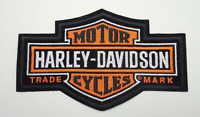 Harley Davidson Embroidered Patch Bar & Shield
