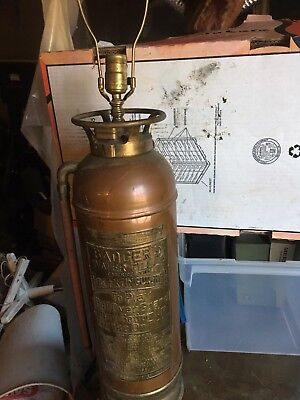 Antique Copper & Brass Badger Fire Extinguisher Lamp