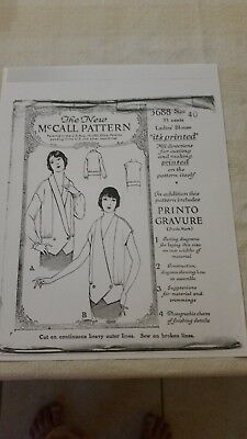 Antique Sewing Pattern- Ladies Tunic #3688