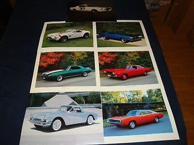 Vintage Muscle Car Prints 16 X 20 By Power Graphic Corp 1980's