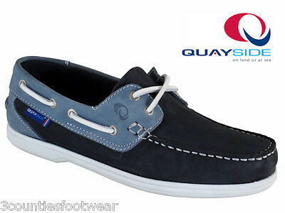 Ladies Boat Shoes - Quayside Burmuda Hand Crafted Deck Shoes - Machine Washable