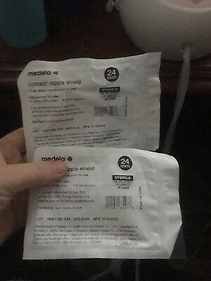 MEDELA SEALED CONTACT NIPPLE SHIELD 24 Mm. Brand New. 2 Pieces
