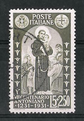 ITALY 1931 Used 5 L + 2,50 Olive Brown Key Value Sass #298 CV €475 VF