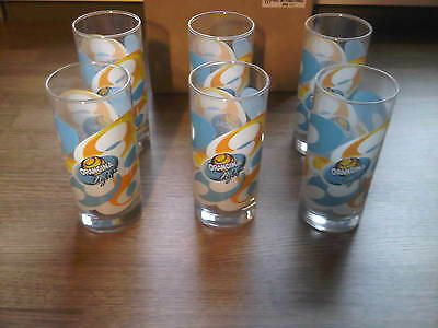 Lot De 6 Verres Orangina Light Neuf  !!!!!!