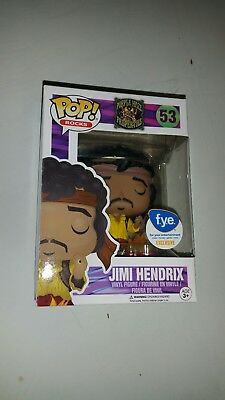 Funko Pop Rocks FYE Purple Haze #53 Jimi Hendrix (Burning Guitar)