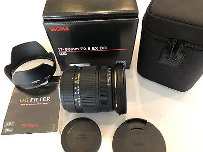 Sigma 17-50mm f/2.8 EX DC HSM Zoom Lens for Sony A-Mount  DSLR