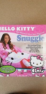 Hello Kitty Snuggie, One Size Fits Most Adults, Super Soft, 71in.x54in., NEW