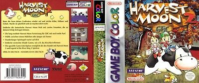 Nintendo Game Boy Color replacement case with Cover Harvest Moon 2