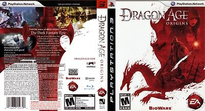 Sony Ps3 Replacement Game Case and Cover Dragon Age: Origins