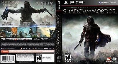 Sony Ps3 Replacement Game Case and Cover Middle-earth: Shadow of Mordor