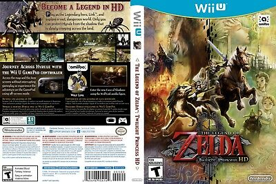 Nintendo Wii u Replacement Case and Cover Legend of Zelda: Twilight Princess HD,