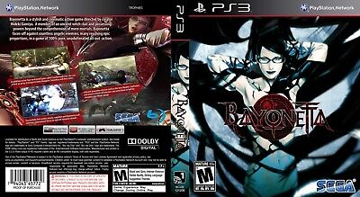 Sony Ps3 Replacement Game Case and Cover Video Game Case Bayonetta