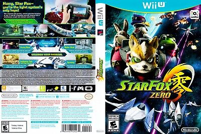 Nintendo Wii u Replacement Case and CoverStar Fox Zero
