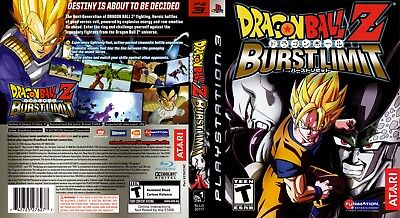 Sony Ps3 Replacement Game Case and Cover Dragon Ball Z: Burst Limit