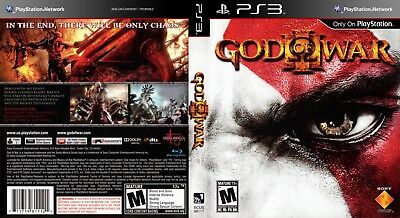 Sony Ps3 Replacement Game Case and Cover God of War 3