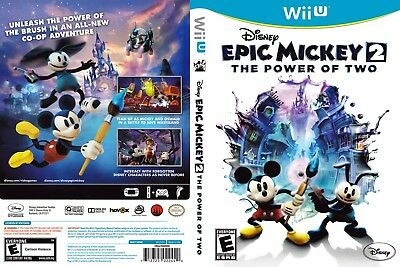 Nintendo Wii u Replacement Case and Cover Epic Mickey 2: The Power of Two