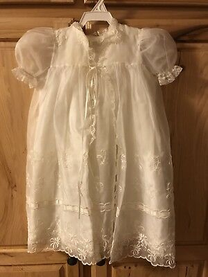 Madonna By Haddad Vintage Christening Dress And Coat And Bonnet