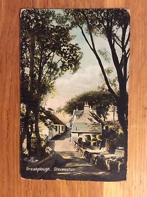 Vintage Postcard, Stevenson, Breakplough, Village View, Ayrshire, Early