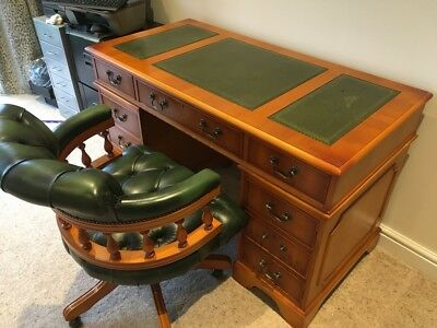 Desk and Chair Chesterfield Antique style