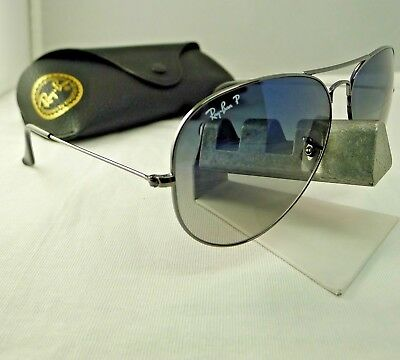 28a54bd18fdc4 Ray-Ban Rb3025 004 78 Gunmetal Gradient Polarized Aviator Sunglasses 62Mm  9.9
