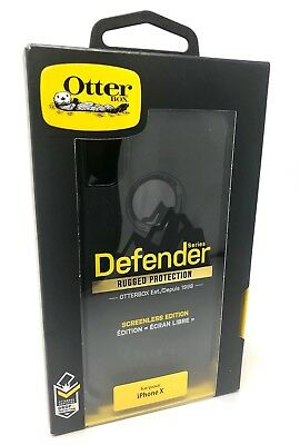 NEW Otterbox Defender Series Protective Case for iPhone X XS 10 Black