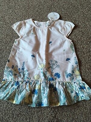 BNWT Holly Willoughby Baby Girls Short Sleeve Top Size 12-18 Months. Flowers