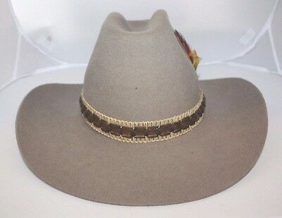 Vintage Biltmore Cowboy Hat Size 7 - 56cm Hedley Style Desert Tan Feather    Box 2486be953568