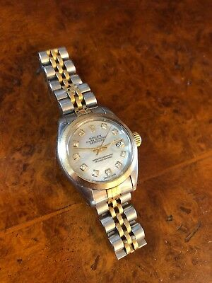 Ladies Rolex Datejust Steel Gold Bi-Metal 26mm Oyster Bracelet 69163 Year1979/80
