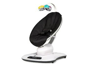 4moms mamaRoo 4 infant seat – Classic Black Newest Model (New in Retail Box)