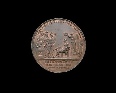 George Iv 1821 Bronze Coronation Medal - By Pistrucci