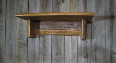 Wall Shelf Home Decor Aged Oak Barn Wood Rustic Country Primitive Extra Wide