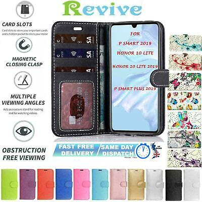 Case Cover For Huawei P Smart 2019 / Honor 10 lite Flip Wallet Book Leather