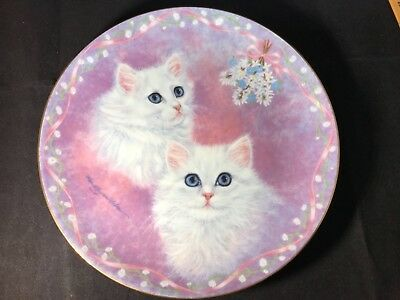 """Tasha and Tanya"" The Danbury Mint Kitten Plate by Robert Gusman-Forbes. 1991"