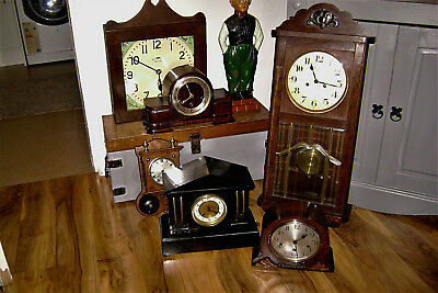 antique clocks x6 (westminster chimes) 5 working......