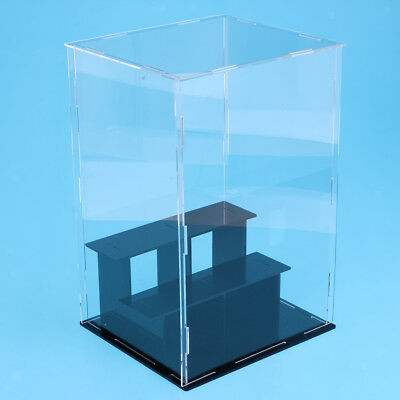 3 Steps Clear Acrylic Display Case Box 24x18x18cm for Model Toy Collectibles