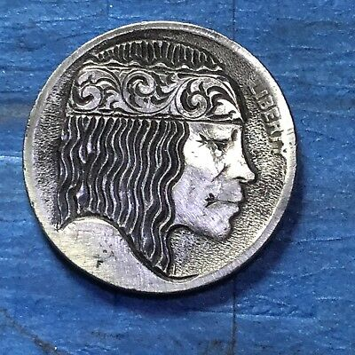 Hobo Nickel Coin Art Real Hand Carved Gypsy Queen